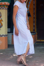 Solid Casual Round Loose Maxi Dress