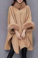 Casual Solid Long Sleeves Fluffy Coat
