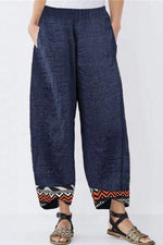 Casual Printed Side Pockets Maxi Pant