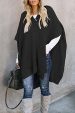 V Neck Cape Design Sweater
