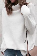 Solid Loose Pullover Sweater