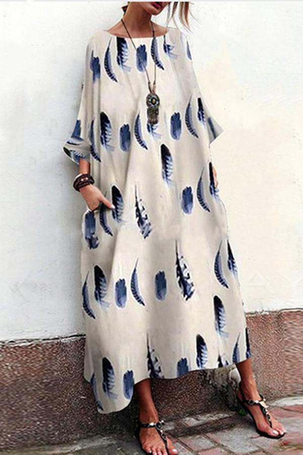 Cocoon Daytime Printed Striped Maxi Dress