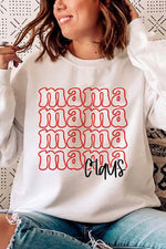 Mama Claus Letter Print Casual Crew Neck Women T-shirt