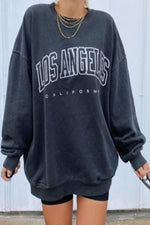 Los Angeles California Letter Print Basketball Sports Fashion Women Sweatshirt