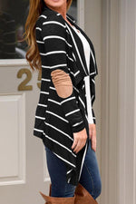 Stripe Pattern Long Sleeves Cardigans