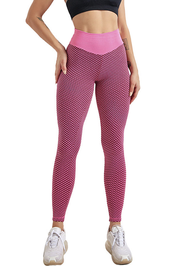 Dots Embossed Butt Lifting Peach Hip Yoga Fitness Running Sports Leggings