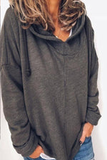 Casual Long Sleeves Solid Sweatshirts