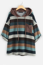 Retro Multi-color Striped Hoodies
