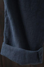 Side Pockets Solid Linen Pants