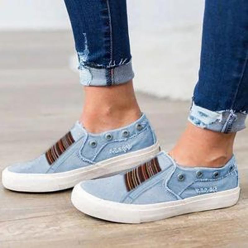 Casual Denim Flat Loafers Shoe