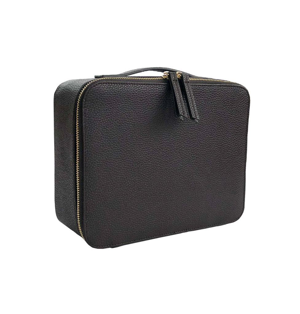 Makeup Bag with Mirror and 3 Pouches - Espresso