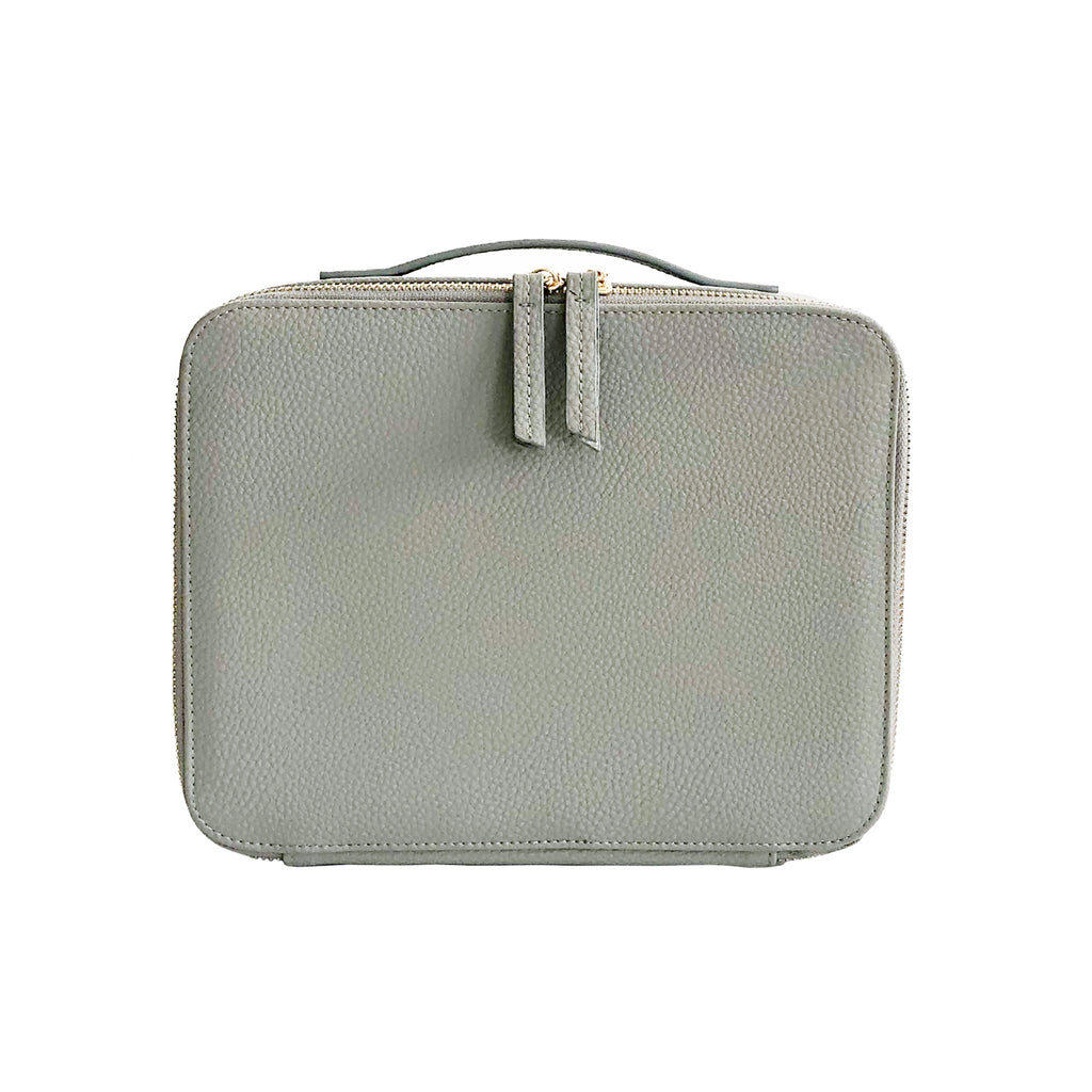 Makeup Bag with Mirror and 3 Pouches - Dove Grey