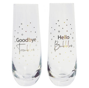 Hello Bubbles Champagne Glasses