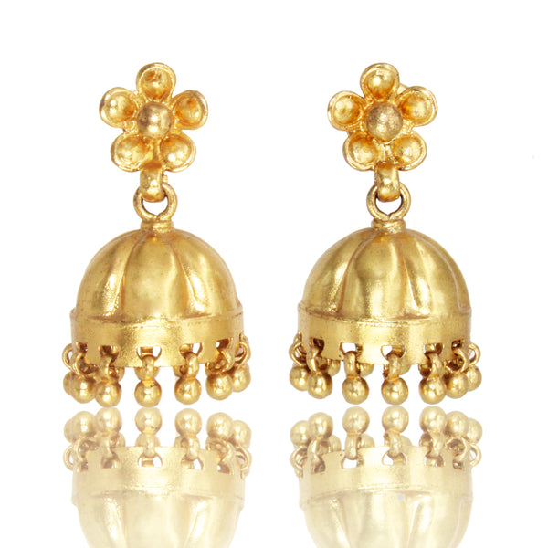 Sterling Silver Jhumki with Gold Plating