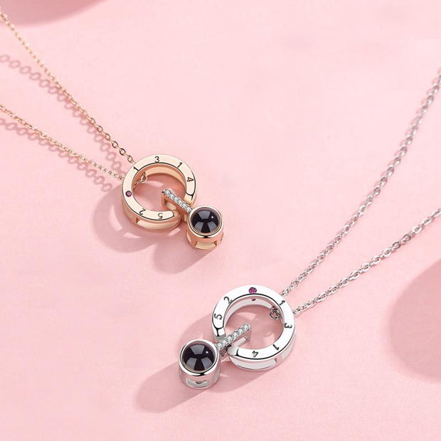 "Collier ""I Love You"" ParisFlavor Rose Gold"