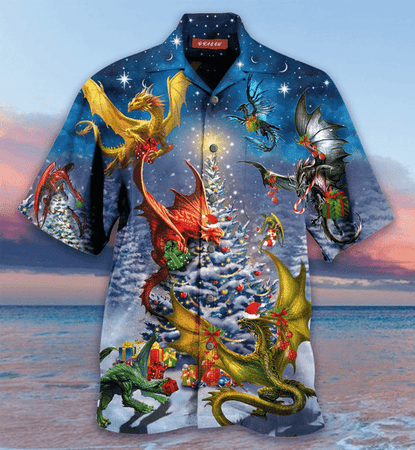 Christmas Dragon Family Reunion Hawaiian Shirt | Unisex | Full Size | Adult | Colorful | HW1755