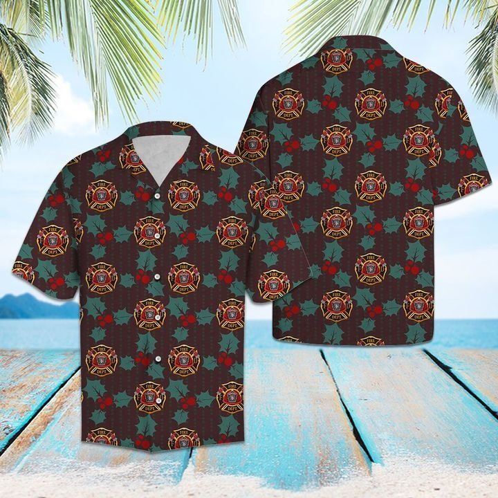 Firefighter Leaves Hawaiian Shirt | Unisex | Full Size | Adult | Colorful | HW1618