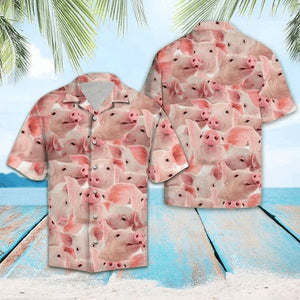 Happy Pig Hawaiian Shirt | Unisex | Full Size | Adult | Colorful | HW1590