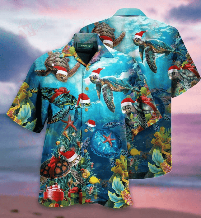Have A Turtley Awesome Christmas Hawaiian Shirt | Unisex | Full Size | Adult | Colorful | HW2131