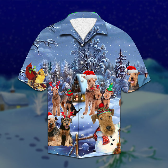 Airedale Terrier Christmas Hawaiian Shirt | Unisex | Full Size | Adult | Colorful | HW2106
