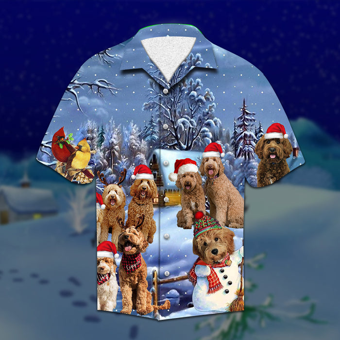 Labradoodle Christmas Hawaiian Shirt | Unisex | Full Size | Adult | Colorful | HW2103