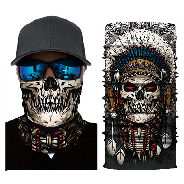 Indian Skull Bandana Shield B1143