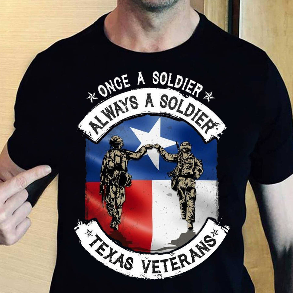 Once A Soldier Always A Soldier Unisex T Shirt | Full Size | Adult | Black | K2335