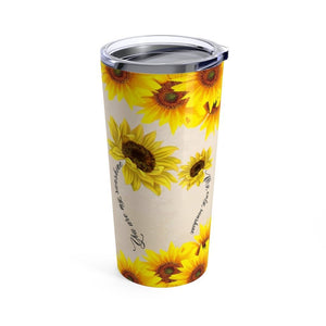 Mom To Daughter, Sunflower Tumbler 20oz THB1610TC