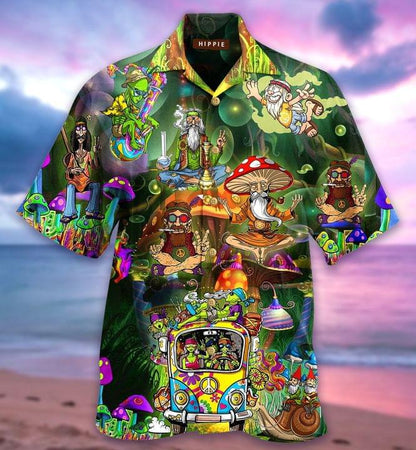 Hippie Hawaiian Shirt | Unisex | Full Size | Adult | Colorful | HW2067