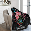 To My Wife The Day I Met You Rose Butterfly Ultra Soft Cozy Plush Fleece Blanket