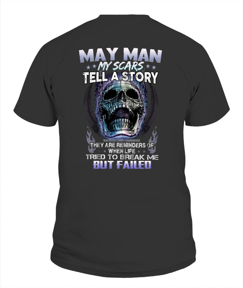 May Man Unisex T Shirt | Full Size | Adult | Black | K16575