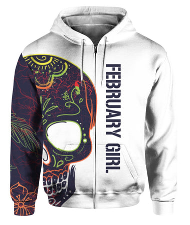 February Girl 3D All Over Print | Hoodie | Unisex | Full Size | Adult | Colorful | KD1032
