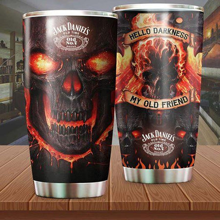 Skull Stainless Steel Tumbler Cup 20 oz | Travel Mug | Colorful | K1083