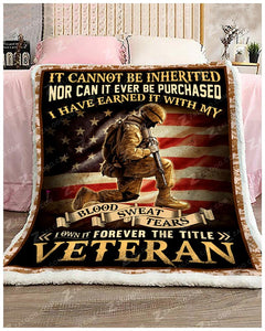 Veteran Fleece Blanket | Adult 60x80 inch | Youth 45x60 inch | Colorful | BK1946