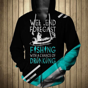 Fishing Forecast 3D All Over Print | Hoodie | Unisex | Full Size | Adult | Colorful | HT2567