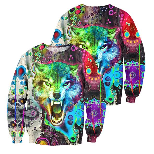 Wolf 3D All Over Print | Hoodie | Unisex | Full Size | Adult | Colorful | HT3168