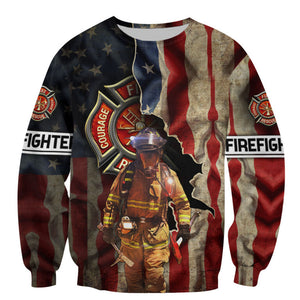 Love Firefighter 3D All Over Print | Hoodie | Unisex | Full Size | Adult | Colorful | HT3347