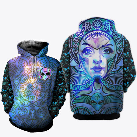 Hippie Mandala 3D All Over Print | Hoodie | Unisex | Full Size | Adult | Colorful | HT3206