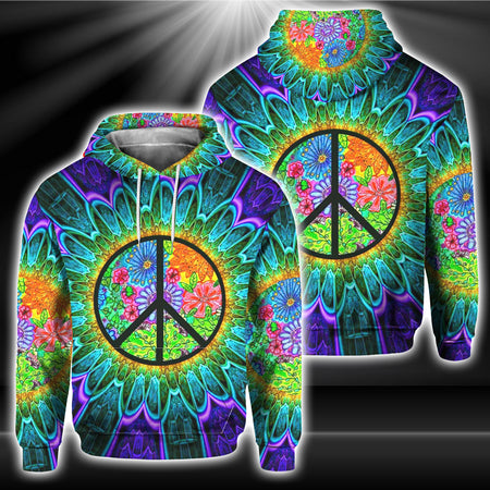 Hippie 3D All Over Print | Hoodie | Unisex | Full Size | Adult | Colorful | HT2374