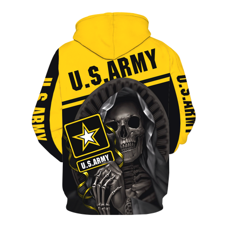 United States Army Skull 3D All Over Print | Hoodie | Unisex | Full Size | Adult | Colorful |  V1248