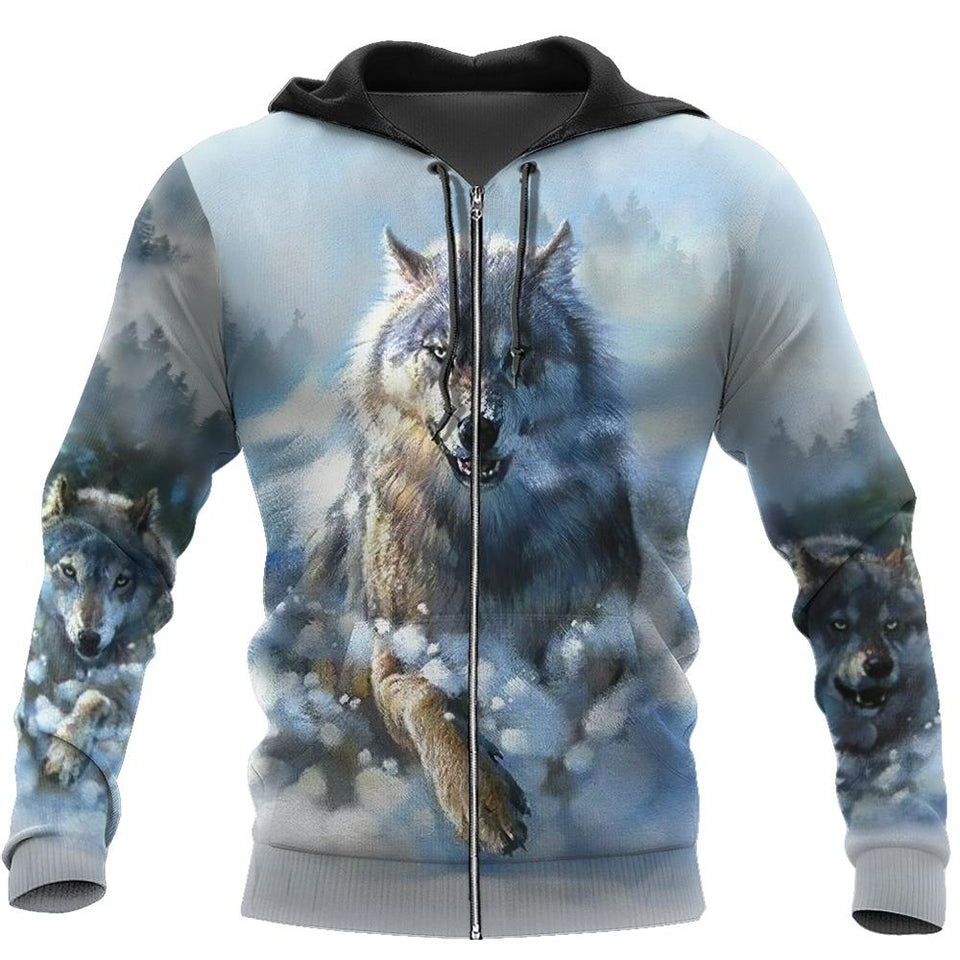 Native Wolf 3D All Over Print | Hoodie | Unisex | Full Size | Adult | Colorful | HT2371