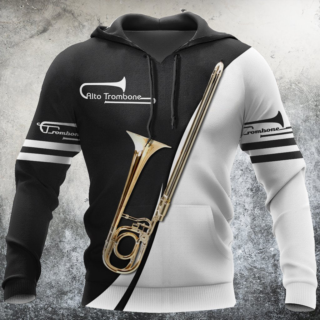 Alto Trombone Music 3D All Over Print | Hoodie | Unisex | Full Size | Adult | Colorful | HT2686