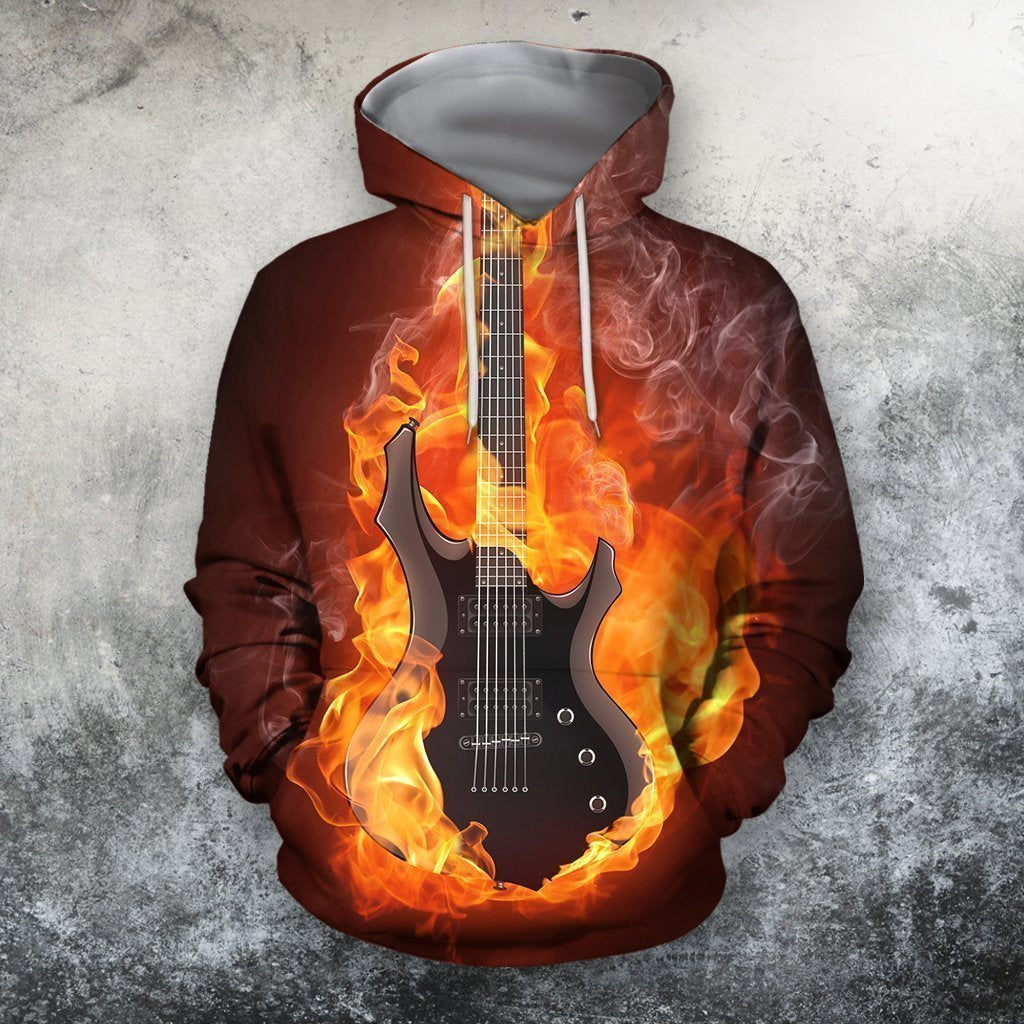 Guitar 3D All Over Print | Hoodie | Unisex | Full Size | Adult | Colorful | HT2660