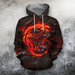 Dragon Skull 3D All Over Print | Hoodie | Unisex | Full Size | Adult | Colorful | TM1277