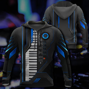 Piano Keyboard 3D All Over Print | Hoodie | Unisex | Full Size | Adult | Colorful | HT2659