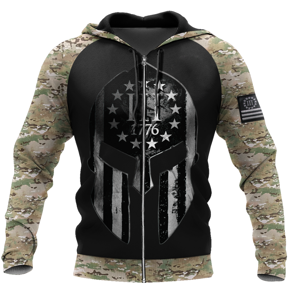 Spartan Soldier 3D All Over Print | Hoodie | Unisex | Full Size | Adult | Colorful | HT3543