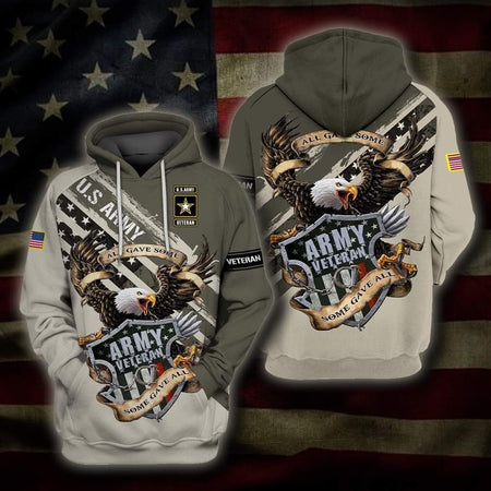 Army Veteran 3D All Over Print | Hoodie | Unisex | Full Size | Adult | Colorful | HT3212