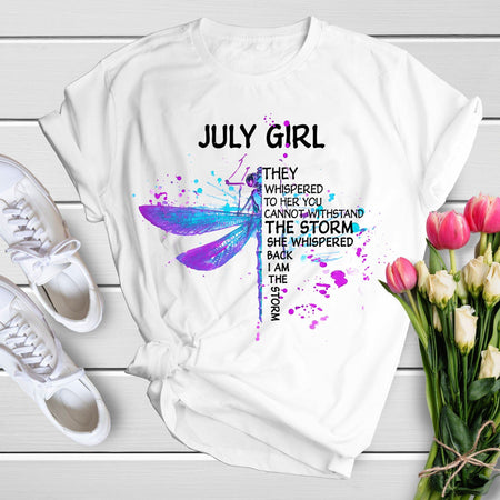 July Girl Unisex T Shirt | Full Size | Adult | White | K14107