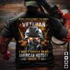 Veteran Unisex T Shirt | Full Size | Adult | Black | K90141