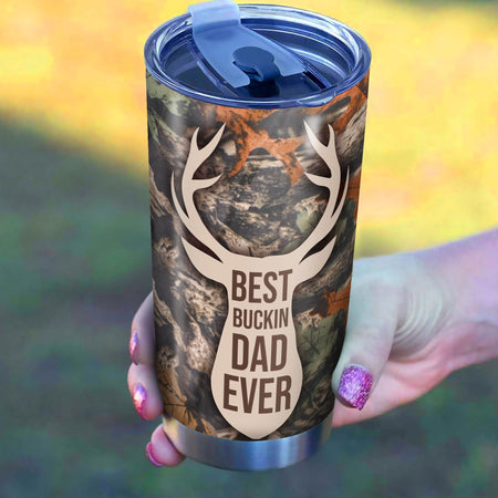 Hunting Best Buckin Dad Tumbler Cup